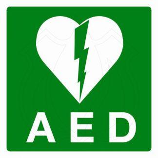 AED Sticker klein, groen-0