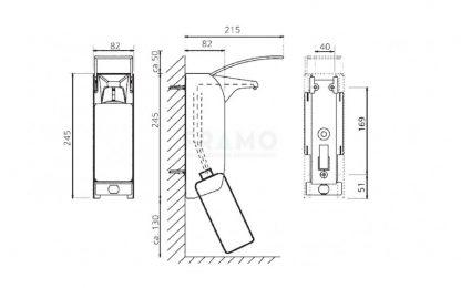 Dispenser Euro 1 plus voor ½ Liter fles-21746