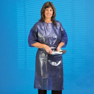 Protectiejas Blauw waterdicht,50 stuks-0