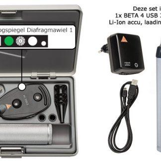 Complete K180 Otoscoop/Oogspiegel set met USB handvat-0