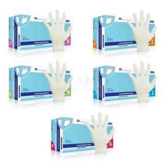 Latex handschoen XL, gepoederd KLINION-0